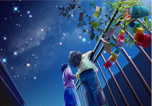 night children holiday starry sky wallpaper preview